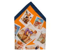 Einstecktuch - orange/ dunkelblau