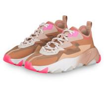Plateau-Sneaker ECLIPSE - BRAUN/ NUDE