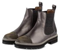Chelsea-Boots - GRAU METALLIC