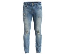 Destroyed-Jeans TYE Slim Carrot Fit