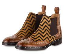 Chelsea-Boots SALLY 45 - BRAUN/ COGNAC