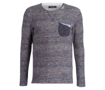 Pullover DOCK - blau/ creme/ rot