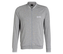 Lounge-Sweatjacke - grau