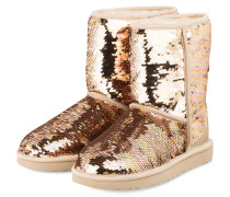 Boots CLASSIC SHORT SEQUIN - GOLD
