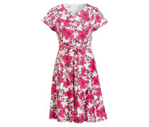 Kleid - pink/ weiss/ schwarz