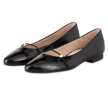 Lack-Ballerinas - schwarz