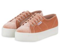 Plateau-Sneaker 2790 VELVET - ROSÉ