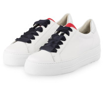Plateau-Sneaker - WEISS/ SILBER