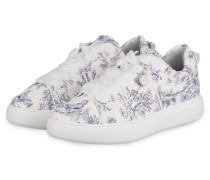 Plateau-Sneaker FLORA - WEISS/ BLAU