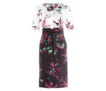 Kleid ARIANA - weiss/ schwarz/ pink