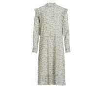 Kleid CAVAN - ecru/ grün/ blau