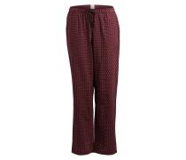 Pyjamahose - weinrot