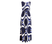 Abendkleid CIRCLES - marine/ weiss/ blau