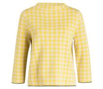 Pullover mit 3/4-Arm - gelb/ creme