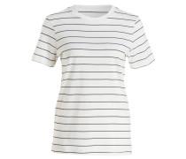 T-Shirt - offwhite/ blau gestreift