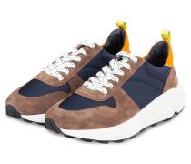 Sneaker - BRAUN/ WEISS/ NEONORANGE