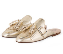 Tassel-Slipper - GOLD METALLIC