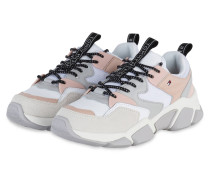 Plateau-Sneaker COSY CHUNKY - WEISS/ ROSE