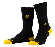 Socken WU-TANG PATCH - schwarz/ gelb