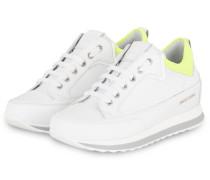 Plateau-Sneaker ADEL - WEISS/ NEONGELD