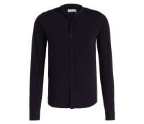 Jersey-Hemd Slim Fit mit Stehkragen