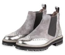 Chelsea-Boots - GRAU/ SILBER