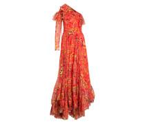 One-Shoulder-Kleid aus Seide