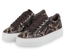 Plateau-Sneaker DIAMOND - SCHWARZ/ BEIGE