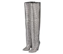 Overknee-Stiefel - silber