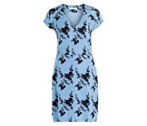 Kleid FRIDA - hellblau/ schwarz