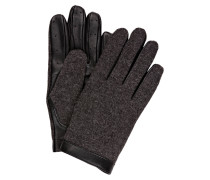 Handschuhe mit Lederbesatz
