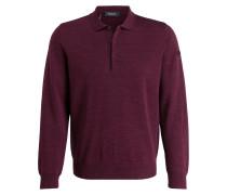 Schurwoll-Pullover mit Polokragen