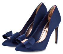 Satin-Pumps SKALETT - NAVY