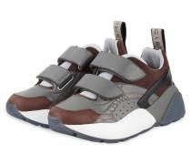 Plateau-Sneaker - GRAU/ BRAUN