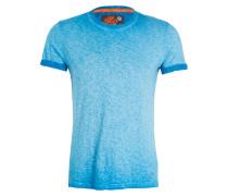 T-Shirt - türkis meliert