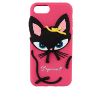 iPhone-Hülle D2 KITTY - schwarz/ pink