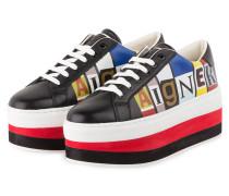 Plateau-Sneaker DIANE II - SCHWARZ/ ROT
