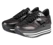 Plateau-Sneaker ISA 10 - SCHWARZ