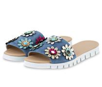 Sandalen - blaugrau/ silber metallic