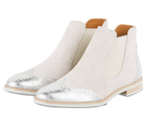 Chelsea-Boots - BEIGE/ SILBER