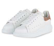 Plateau-Sneaker - WEISS/GOLD