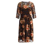 Kleid - schwarz/ rot/ braun