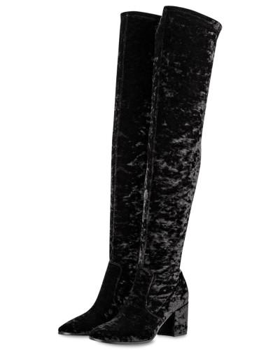 Spielraum Neue Ankunft Preise Im Netz Kennel & Schmenger Damen Overknee-Stiefel RUBY aus Samt - SCHWARZ 6aqY1qMRM6