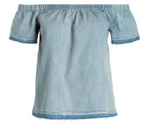Off-Shoulder-Bluse - hellblau
