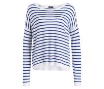 Pullover - blau/ weiss gestreift