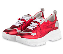 Plateau-Sneaker CLOUD CHUNKY - ROT/ SILBER