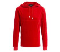 Sweatshirt in Nicki-Qualität - rot