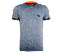 T-Shirt - blau meliert