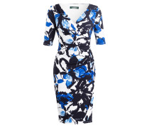 Jerseykleid - weiss/ dunkelblau/ blau