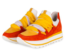 Plateau-Sneaker - ORANGE/ DUNKELGELB